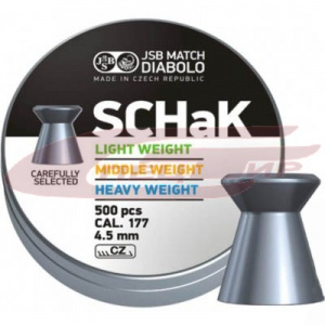 Пули JSB Diabolo Match SCHaK Light 4.50мм., 0.475г., 500шт/уп.