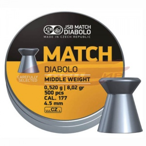 Пули JSB Match Diablo middle 4.50мм., 0.52 гр. (500шт)