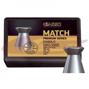 Пули JSB Match Premium Middle 4.50мм., 0.520 г., 200 шт.